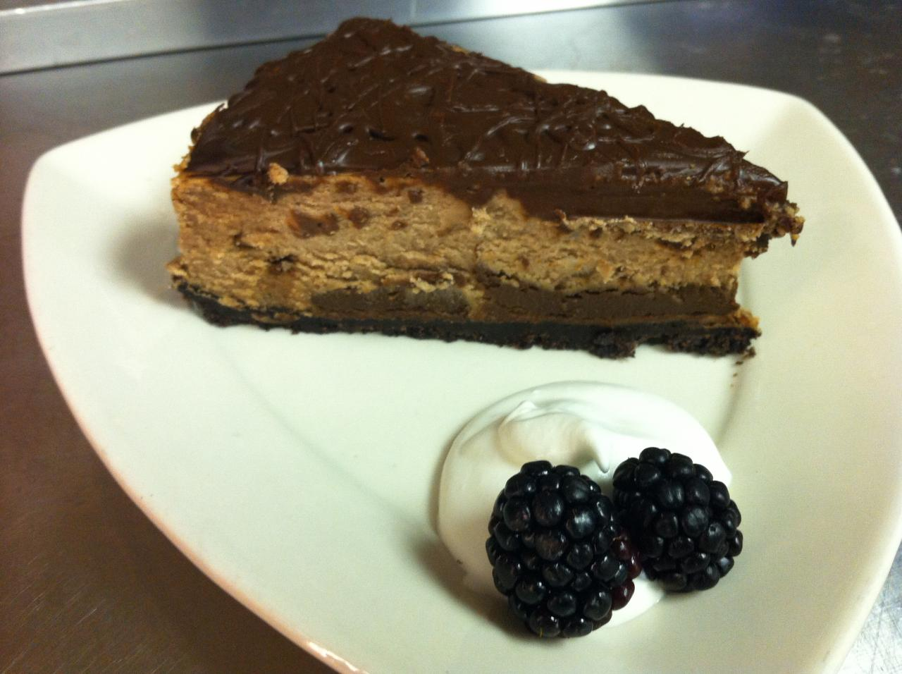 Homemade Chocolate Truffle Cheesecake
